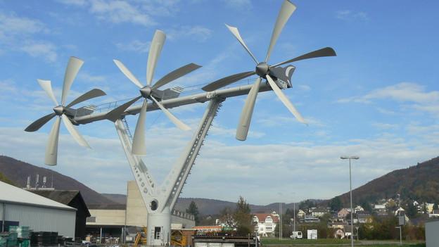 Die neue Windanlage steht im schaffhausischen Beringen.