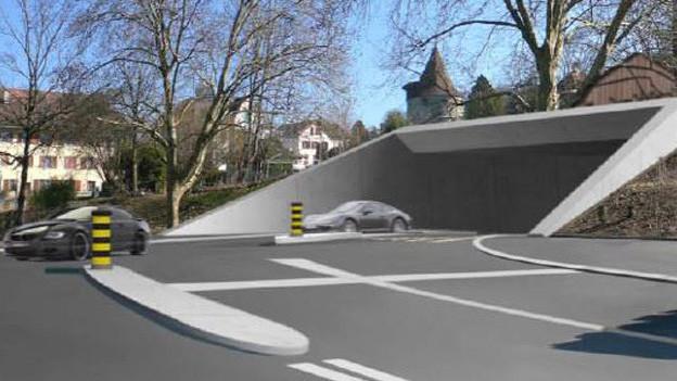So könnte eines der vier Portale für den Stadttunnel in Zug aussehen.