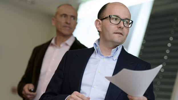 Hoch hinaus in Vals: Remo Stoffel und Pius Truffer
