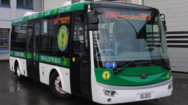 Einer der beiden Basler Test-Elektrobusse.