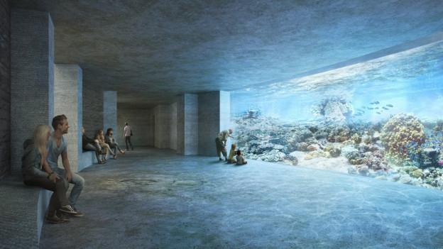 Eine Visualisierung des Basler Ozeanium-Projekts.