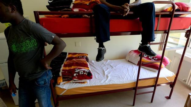 Eine Asylunterkunft in der Stadt Luzern.