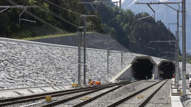 Nordportal des neuen Tunnels in Erstfeld