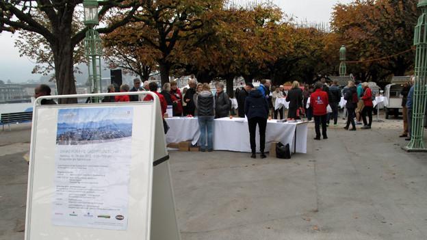 Luzern Tourismus lud zum Dank an den Nationalquai.