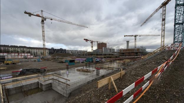 Investoren bauen in Basel gerne Wohnungen, zum Beispiel im Quartier Erlenmatt.