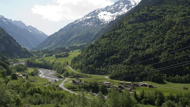 Hier soll eine neue Eisenbahn durchführen: das Grimselmassiv im Berner Haslital.