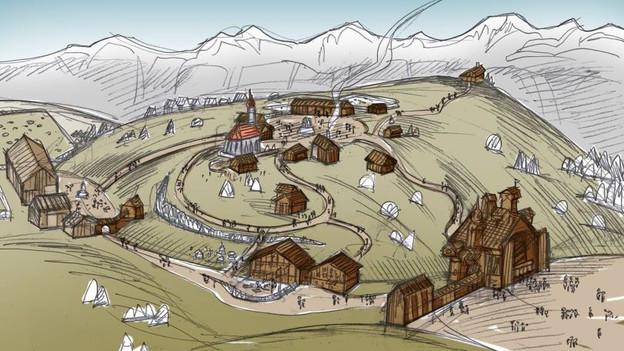 Skizze des geplanten Heididorfs.