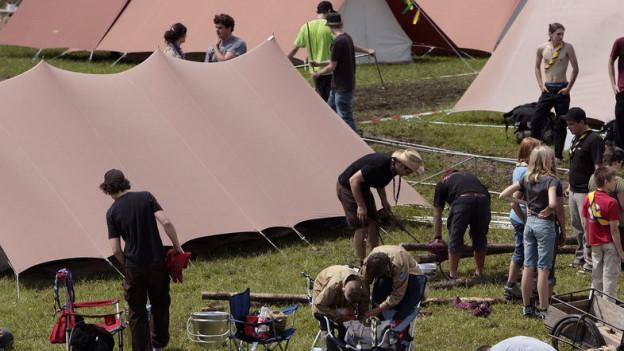 Spatz-Zelte sollen auch in Zukunft zum Pfadilager dazugehören