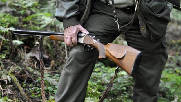 Eine Jägerflinte.