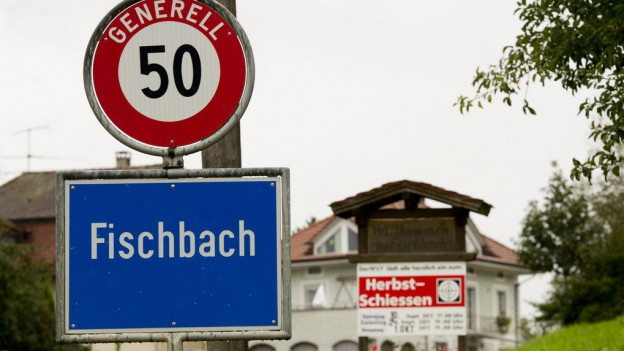 Gemeinde Fischbach, Ortschild