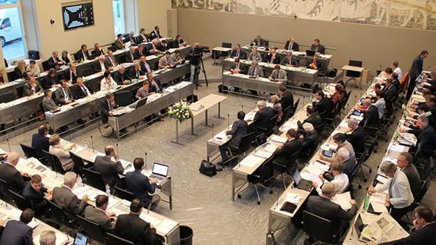 Das Bündner Kantonsparlament.