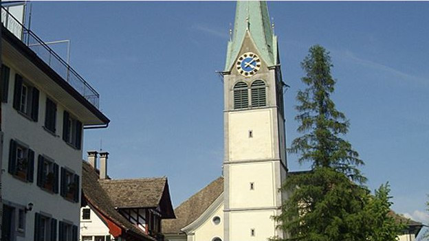 Der Kirchturm von Wädenswil