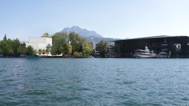 Eine Visualisierung des neuen Luzerner Musiktheaters.