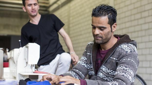 Arbeit ist eine willkommene Abwechslung für Asylsuchende