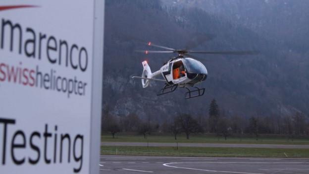 Testflug des ersten Schweizer Helikopters