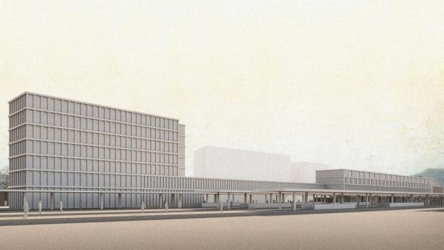 So könnte das neue Gesundheitszentrum am Bahnhof Liestal aussehen.