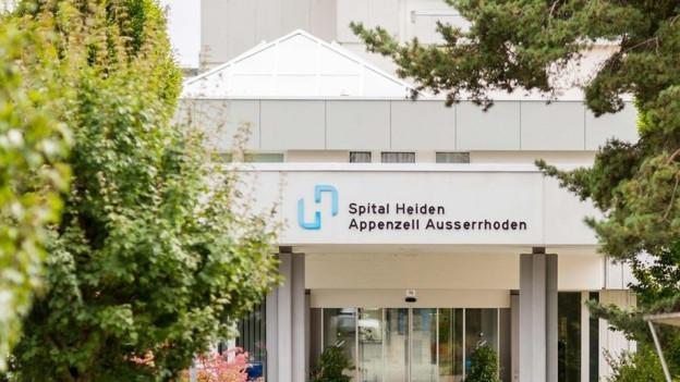 Eingang des Spitals Heiden.