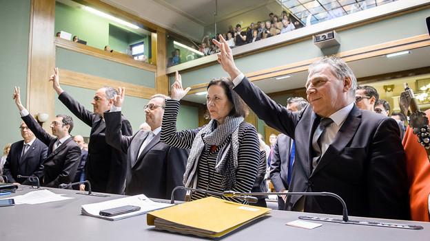 SVP wollte Vereidigung der Kantonsregierung verhindern.