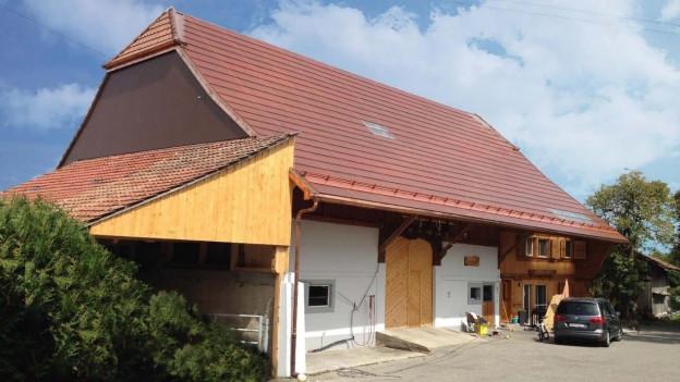 Bauernhaus mit Solarziegeln