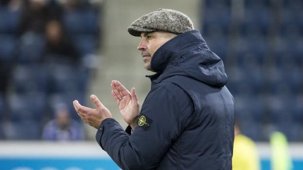 Erleichterung bei FCL-Trainer Markus Babbel nach dem Sieg über St. Gallen.
