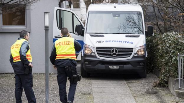Grosses Polizeiaufgebot rund um den Prozess