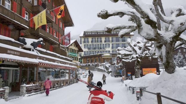 Das Dorf Wengen.