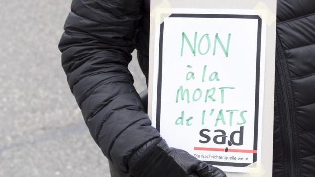 Protest gegen SDA-Entlassungen.