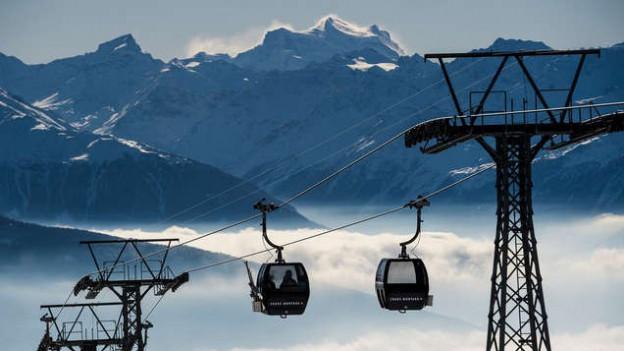 Nichts geht mehr im Skigebiet von Crans Montana.