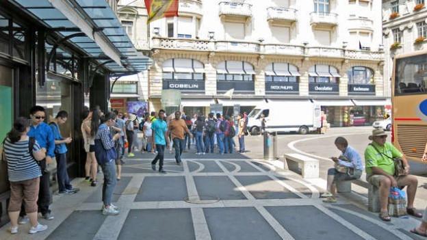 Gruppenreisende sorgen für eine hohe Wetschöpfung am Luzerner Schwanenplatz.