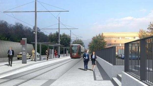 Das Tram soll Lugano vom Autoverkehr entlasten