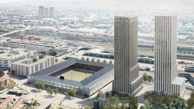 Modell des aktuellen Stadionprojekts in Zürich.