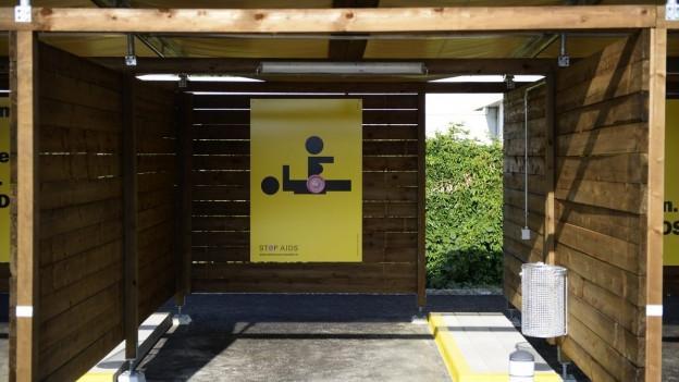 Eine Sexbox in Zürich-Altstetten.