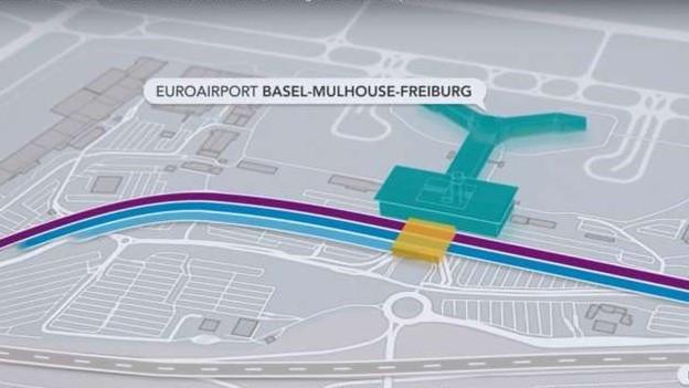 Bis in zehn Jahren soll der Euroairport per Bahn erreichbar sein.