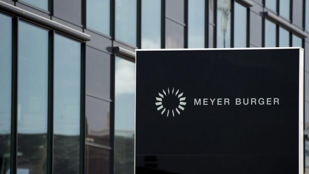 Das Logo der Firma Meyer Burger.