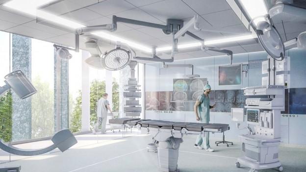Ein neuer Operationssaal im Zürcher Unispital.