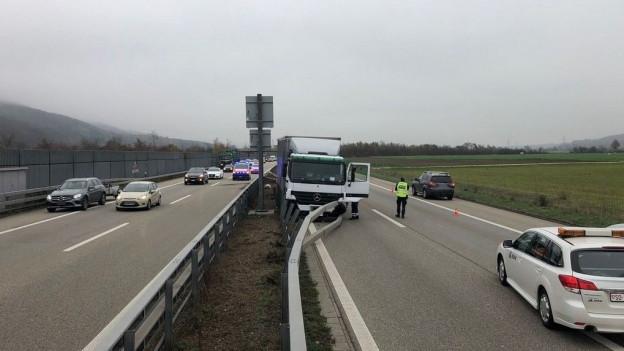 Ein Unfall auf der A1 im Kanton Solothurn.