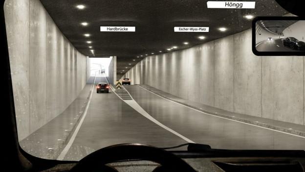 Der Tunnel soll das Quartier vom Verkehr entlasten