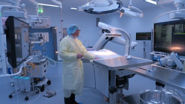 Blick in einen neuen Operationssaal des Kantonsspitals Luzern.