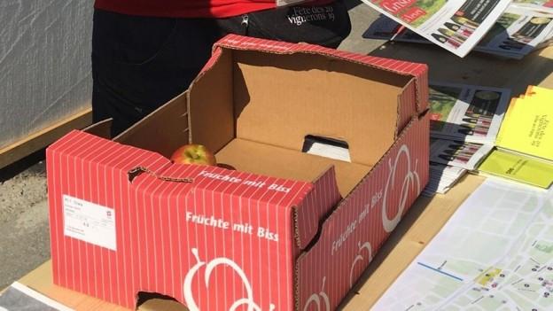 Trotz Werbeslogan der verspricht, dass der Thurgau mehr als Äpfel sei, setzt der Kanton am Fête des Vignerons auf Äpfel.