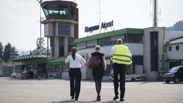 Der Flugplatz Lugano Agno