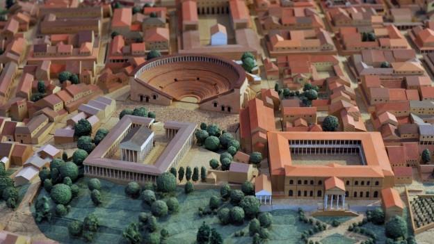 Ein Modell der römischen Stadt Augusta Raurica.