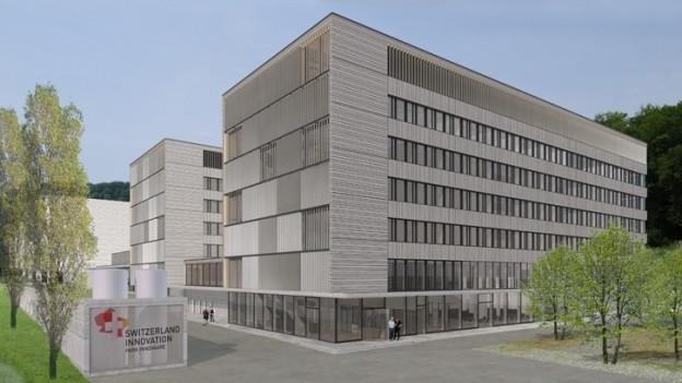 Visualisierung des geplanten Campus.