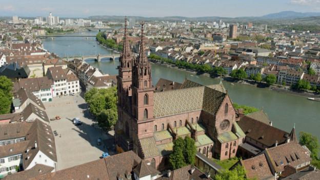 Luftbild vom Basler Münster