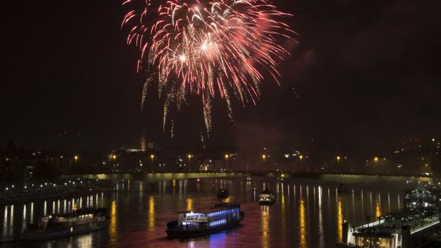 Das Basler Silvester-Feuerwerk.