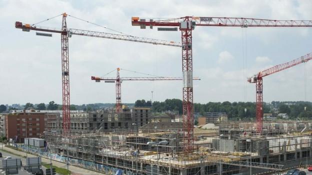 Grossbaustelle in der Stadt Basel
