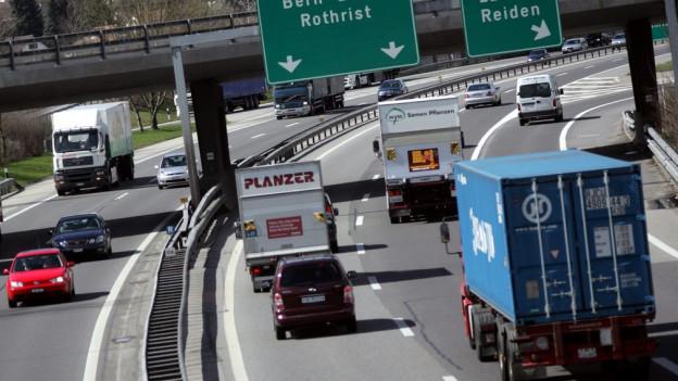 Die Autobahn bei Rothrist.