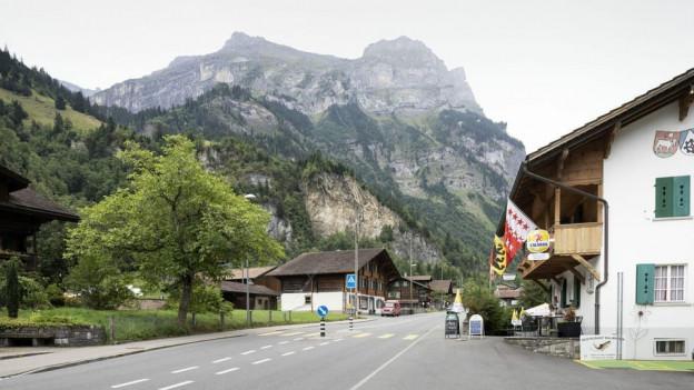 Blick ins Berner Dorf Mitholz.