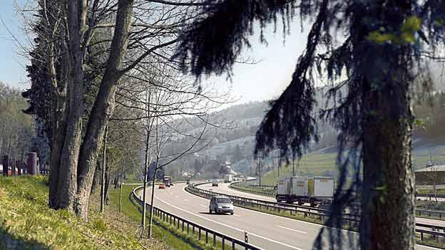 Auf der Autobahn A1 in der Nähe des Rastplatzes Sulzberg wurde die Waffe sicher gestellt.