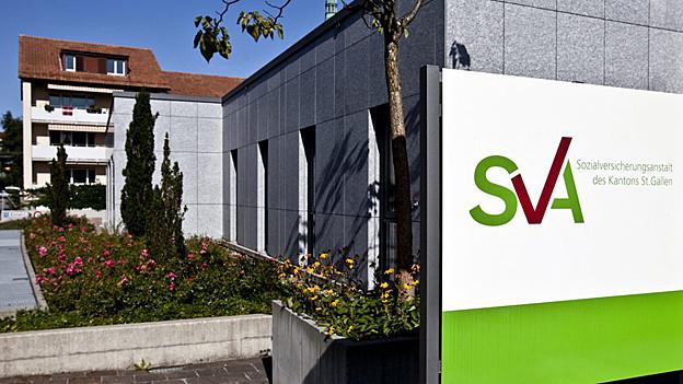 Sicht auf das Gebäude der Sozialversicherungsanstalt des Kantons St. Gallen.