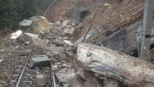 RhB-Strecke Chur-Arosa ist unterbrochen